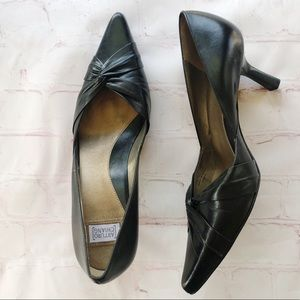 [Arturo Chiang] Renee black leather pumps